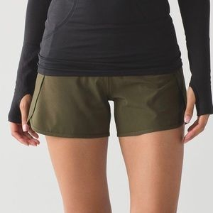Lululemon Run Times Short - Military Green - Sz 6